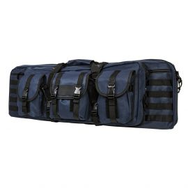 "36"" NCSTAR VISM DELUXE DOUBLE CARBINE CASE W/ VARIOUS COLORS (Color: Blue/Black)"