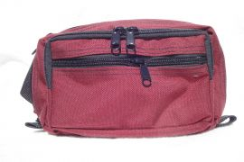 "Concealed Carry ""One Size Fits All"" Fanny Pack (Color: Burgundy, Size: Small)"