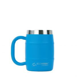 ECO VESSEL DOUBLE BARREL INSULATED COFFEE/BEER MUG 16 OZ (Color: Hudson Blue)