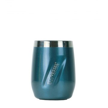 PORT INSULATED STAINLESS STEEL WINE & WHISKEY TUMBLER - 10 OZ (Color: Blue Moon)