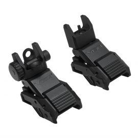 VISM FLIP UP IRON SIGHTS FRONT & REAR PRO SERIES (COMBO) (Sight Systems: Front & Rear Sights)