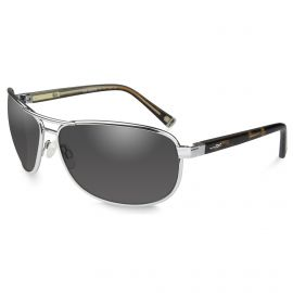 WILEY X KLEIN SUNGLASSES 3 STYLES POLARIZED/SMOKE LENSES (Frame/Lense: Silver Frame/Smoke Grey Lens)