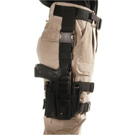NYLON BLACKHAWK ΩMEGA VI ULTRA UNIVERSAL MODULAR LIGHT/THIGH HOLSTER -AMBIDEXTROUS (Color: Black)